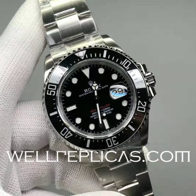 Swiss Rolex Sea-Dweller Man Automatic Mechanical Casual Watch Stainless Steel