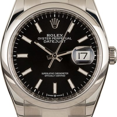Replica Swiss Watches Rolex Datejust 126200 Black Dial