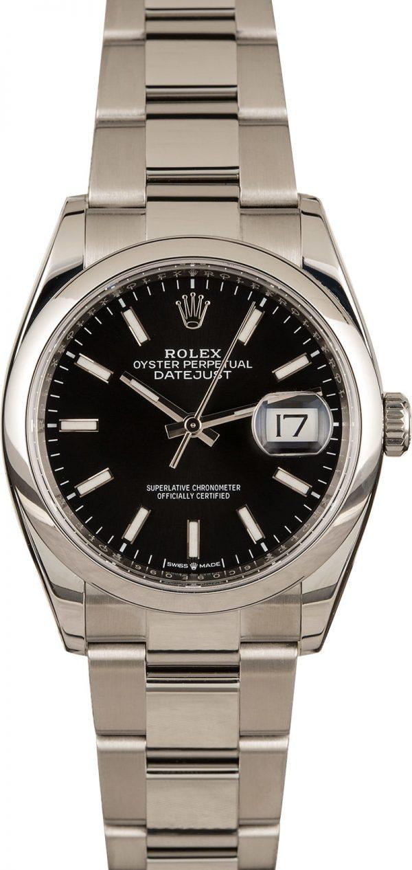 Replica Swiss Watches Rolex Datejust 126200 Black Dial