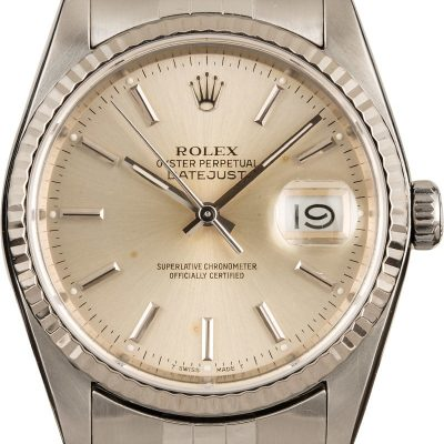 Fake Rolex Daytona Rolex Datejust 16014 Silver Index Dial Jubilee