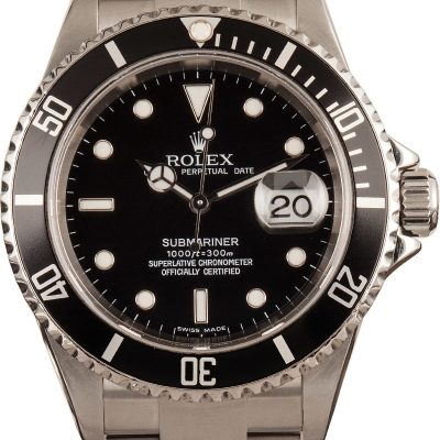 Rolex Fake Rolex Steel Submariner 16610