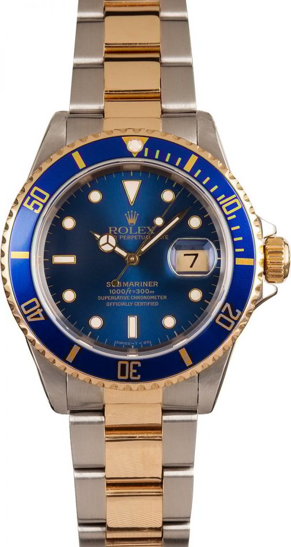 Replica Watches Usatwo Tone Rolex Submariner 16613 Blue Dial