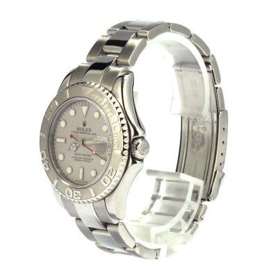 Fake Watchespreowned Rolex Yacht-master 168622 Luminous Platinum Dial