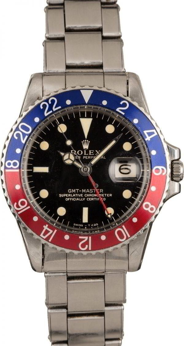 Fake Gold Watches Vintage 1966 Rolex Gmt-master 1675 Pepsi Bezel