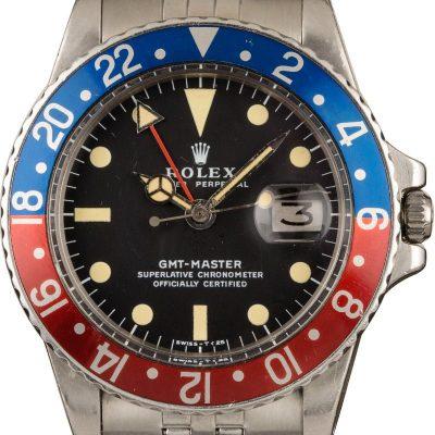 Vintage 1977 Rolex Gmt-master 1675 American Oval Link