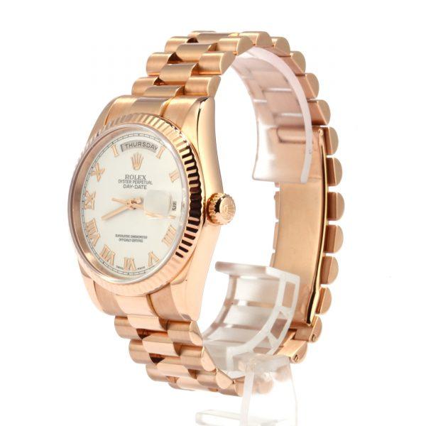 Mens Rolex President 18k Rose Gold Diamond Dial 118235