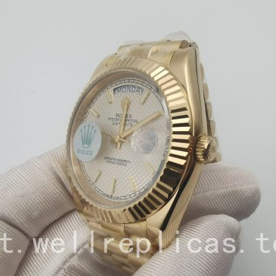 Rolex Day-Date 228238 Cassa 40 Mm in oro giallo zaffiro