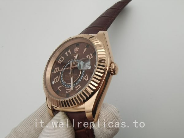 Rolex Sky-dweller 326135 cassa da uomo 42 mm in oro Everose 18k