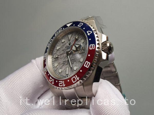 Rolex Gmt-master Ii Quadrante Meteorite Zaffiro In Oro Bianco