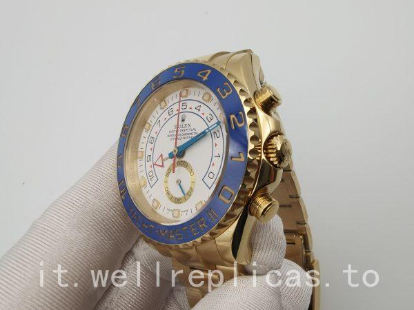 Rolex Yacht-master 116688 Mens Quadrante Bianco Placcato Oro Giallo 18k