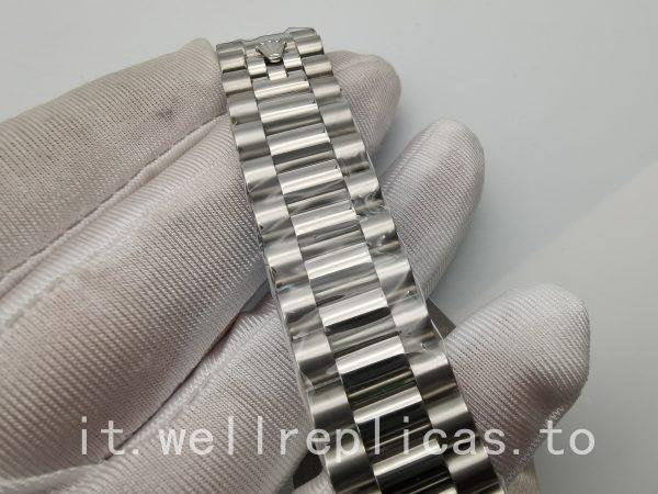 Rolex Day-Date 118209 lunetta bombata in oro bianco 18 carati da uomo