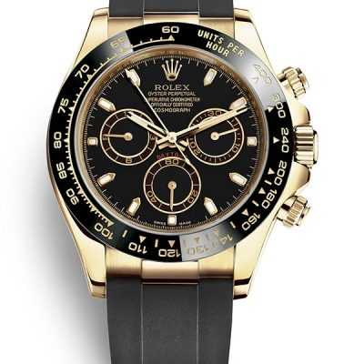 Rolex Daytona 116518ln 002 Uomini Quadrante Nero Oro Giallo 18 Carati