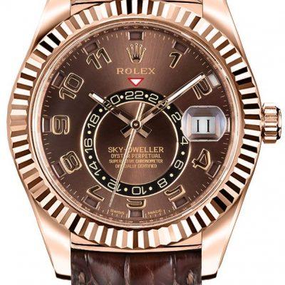Rolex Sky-Rolex Sky-dweller 326135 cassa da uomo 42 mm in oro Everose 18k326135 cassa da uomo 42 mm in oro Everose 18k