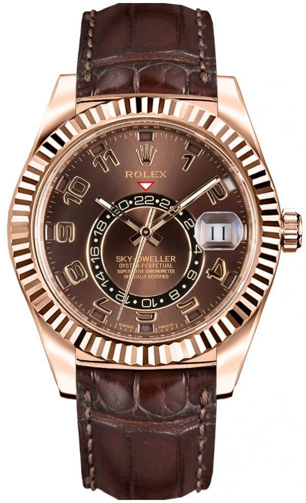Rolex Sky-Rolex Sky-dweller 326135 cassa da uomo 42 mm in oro Everose 18k326135 cassa da uomo 42 mm in oro Everose 18k