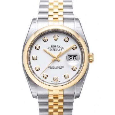 Rolex Datejust 116203 quadrante bianco solido acciaio inossidabile