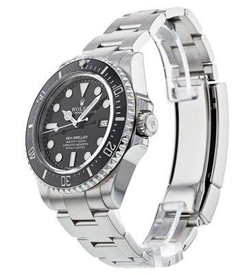 Rolex Sea-Dweller 116600 Orologio da uomo in acciaio con quadrante nero da 40 mm
